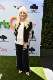 Cynthia Germanotta went for relaxed glamour in an embellished black pantsuit at the Empathy Rocks fundraiser.
