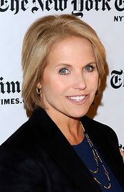 Katie Couric looked super chic in her medium straight cut.