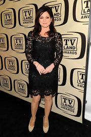 Valerie Bertinelli wowed the crowd of the TV Land Awards in a sexy lace little black dress.