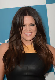 Khloe looked like an Armenian goddess with her hair in long, flowy waves.