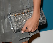 A sparkly glitter clutch added extra glitz and glam to Ashley's ensemble.