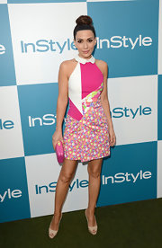 Marisol was perfectly dressed for the InStyle Summer Soiree in this hot pink patchwork dress.