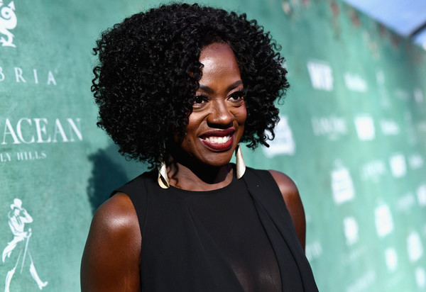 Viola Davis rocked an afro at the Women in Film pre-Oscar party.