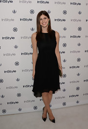 Alexandra opted for a super simple and elegant LBD for InStyle's Summer Soiree.