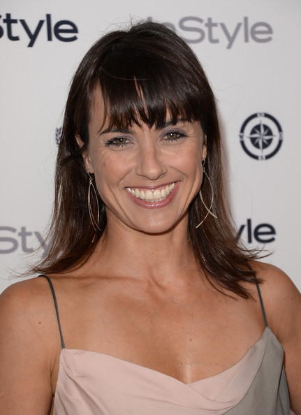 More Pics of Constance Zimmer Medium Straight Cut with Bangs (1 of 10) - Constance Zimmer Lookbook - StyleBistro