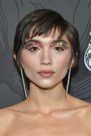 Rowan Blanchard rocked a cute pixie and glittered lids at the 2019 Women in Film Oscar party.