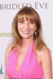 Jane Seymour left her hair down with wispy bangs at the Kentucky Derby Unbridled Eve Gala.