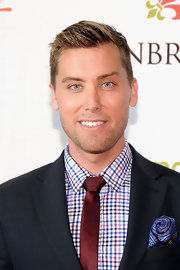 Lance Bass looked very well groomed at the Unbridled Eve Gala with this short side-parted 'do.