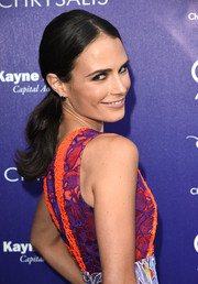 Jordana Brewster opted for a simple center-parted ponytail when she attended the Chrysalis Butterfly Ball.