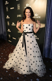 Kristin looked like a retro princess at the CDG Awards in a polka-dot ball gown.