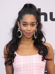 Laura Harrier looked so pretty with her half-up waves at the 2020 Essence Black Women in Hollywood Awards.