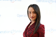 Maggie Q wore her hair straight with a just a bit of a flip during the Operation Smile event.