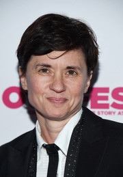 Kimberly Peirce wore her hair in a boy cut at the 2018 Outfest Legacy Awards.