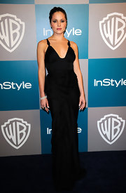 Margarita Levieva looked fabulous in a simple black evening dress at the Warner Bros. and InStyle Golden Globe Awards After Party.