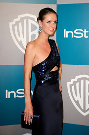 Nicky Hilton wore a Waldorf ring in blue gladstone at the 13th Annual Warner Bros. and 'InStyle' Golden Globe Awards after party.