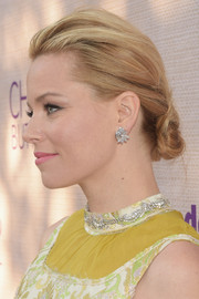 Elizabeth Banks brushed her locks back into a knotted chignon for the Chrysalis Butterfly Ball.