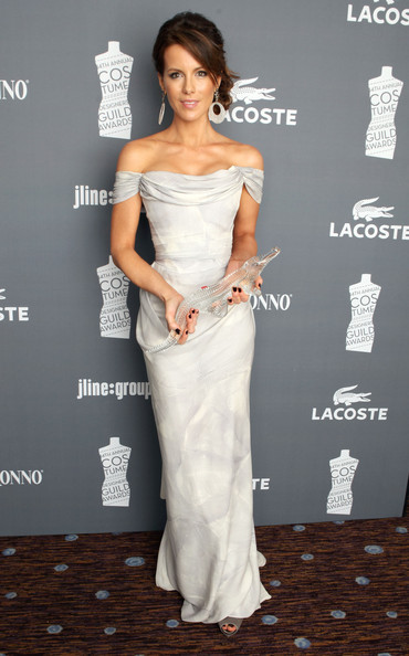 More Pics of Kate Beckinsale Braided Bun (1 of 17) - Kate Beckinsale Lookbook - StyleBistro [dress,clothing,shoulder,gown,strapless dress,hairstyle,carpet,fashion model,joint,cocktail dress,kate beckinsale,lacoste,costume designers guild awards,lacoste - green room,hotel,beverly hills,california,the beverly hilton,sponsor]