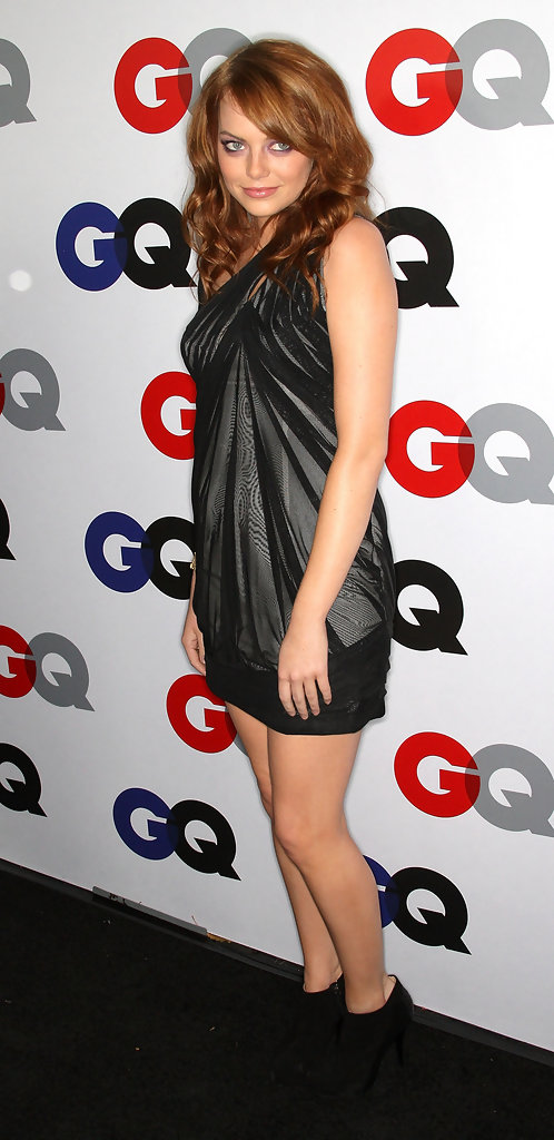 Actress Emma Stone attends the 14th annual GQ Men of the Year Party at the Chateau Marmont Hotel on November 18, 2009 in Los Angeles, California.