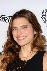 Lake Bell's long waves looked totally natural and cool at the Golden Trailer Awards in Beverly Hills.