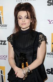 Helena showed off her loose ponytail while attending the Hollywood Awards Gala.