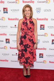 Hoda Kotb was summer-chic in a sleeveless floral frock at the Woman's Day Red Dress Awards.
