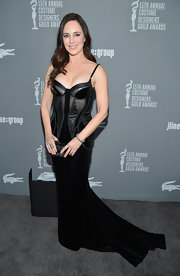 Madeleine Stowe vamped things up in this black velvet corset dress at the Costume Designers Guild Awards.