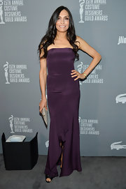 Famke was perfection in this grape purple dress at the Costume Designers Guild Awards.