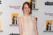 Actress Emma Stone arrives at the 15th Annual Hollywood Film Awards Gala Presented By Starz held at The Beverly Hilton Hotel on October 24, 2011 in Beverly Hills, California.