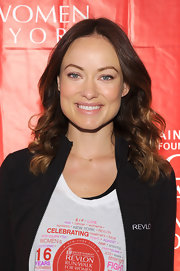 Olivia Wilde chose a flesh-toned lip color for her look at the EIF Revlon Run Walk for Women in NYC.