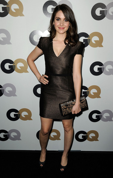 More Pics of Alison Brie Medium Curls (1 of 2) - Medium Curls Lookbook - StyleBistro [men of the year,dress,clothing,cocktail dress,fashion model,little black dress,shoulder,hairstyle,fashion,joint,leg,party - arrivals,alison brie,california,los angeles,chateau marmont,gq,party]