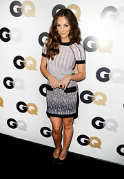 Minka Kelly showed off her style prowess on the red carpet at the GQ soiree. She topped off her look with black patent leather pumps.