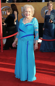 Betty looked ultra-glam at the SAG Awards. She rocked a beaded turqouise gown.