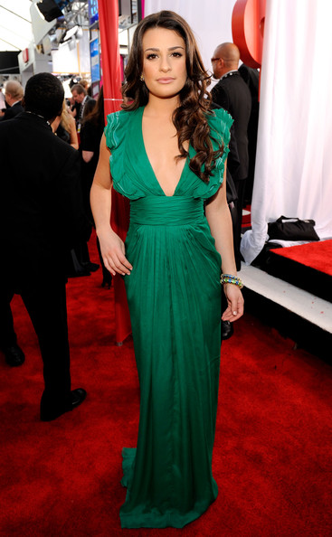 Lea Michele at the 2010 SAG Awards