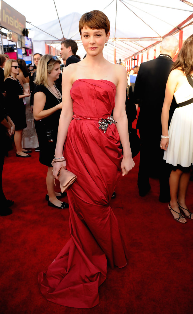 Actress Carey Mulligan arrives at the 16th Annual Screen Actors Guild Awards held at the Shrine Auditorium on January 23, 2010 in Los Angeles, California.