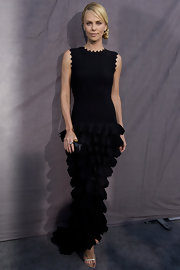Charlize Theron was the picture of elegance in a drop-waist ruffled gown at the Critics' Choice Awards.
