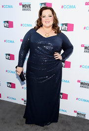 Melissa McCarthy stepped onto the Critics' Choice Movie Awards' red carpet in a midnight sequined evening dress.