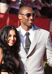 Kobe's chic sunglasses are stylish and functional.
