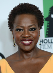 Viola Davis attended the Hollywood Film Awards sporting her natural curls.