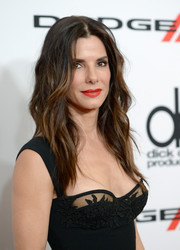 Sandra Bullock looked gorgeous with her edgy-chic waves at the Hollywood Film Awards.