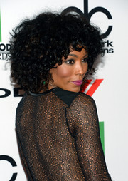 Angela Bassett looked groovy at the Hollywood Film Awards with her high-volume curls.