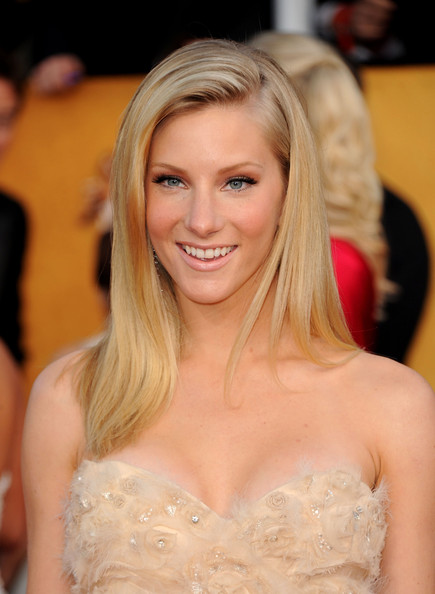 More Pics of Heather Morris Evening Dress (1 of 19) - Heather Morris Lookbook - StyleBistro [hair,face,blond,hairstyle,long hair,beauty,lady,layered hair,eyebrow,shoulder,arrivals,heather morris,screen actors guild awards,california,los angeles,the shrine auditorium,17th annual screen actors guild awards]