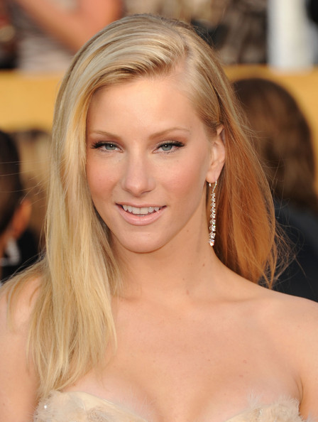 More Pics of Heather Morris Evening Dress (2 of 19) - Heather Morris Lookbook - StyleBistro [hair,face,blond,hairstyle,eyebrow,long hair,beauty,chin,layered hair,skin,arrivals,heather morris,screen actors guild awards,california,los angeles,the shrine auditorium,17th annual screen actors guild awards]