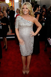 Jane wears her favorite one-shoulder style in a sparkling beaded design at the SAG Awards.