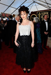Helena was a textured beauty in a floral embroidered frock at the SAG Awards.