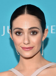 Emmy Rossum attended the Costume Designers Guild Awards wearing a beautiful pair of Martin Katz dangling diamond earrings.