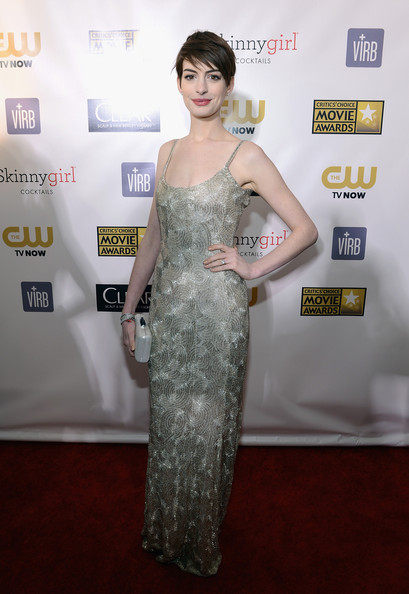 Anne Hathaway at the 2013 Critics' Choice Awards