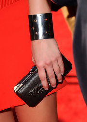 The 'Twilight' actress completed her look with a studded cuff.