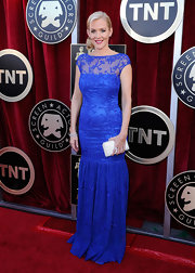 Penelope Ann Miller wore a vibrant blue gown to the SAG Awards.