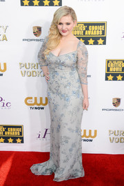 Abigail Breslin dazzled at the Critics' Choice Awards in a light blue Badgley Mischka gown with floral beading.