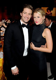 Matthew looked dapper at the Academy Awards party in a classic black suit and bow tie.